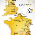 Die Streckenkarte der Tour de France 2014 mit Start in England