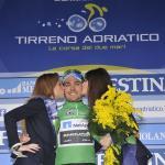 Cesare Benedetti trug bei Tirreno-Adriatico 2013 einen Tag das Bergtrikot (Foto: Team NetApp-Endura)