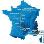 Streckenverlauf von Paris - Nizza