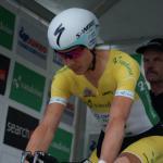 Tony Martin, beim Start noch ganz fokussiert, im Gelben Trikot