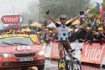Blel Kadri sorgt auf der 8. Etappe für den ersten französischen Sieg bei der Tour 2014 (Foto: Veranstalter/letour.fr)