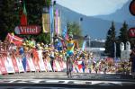 Vincenzo Nibalis dritter Tour-Etappensieg, der erste im Gelben Trikot (Foto: Veranstalter/letour.fr)
