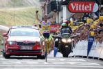 Rafal Majka feiert im Bergtrikot seinen zweiten Etappensieg bei der 101. Tour de France (Foto: Veranstalter/letour.fr)