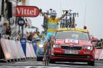 In Hautacam feiert Vincenzo Nibali seinen vierten Etappensieg bei der Tour de France 2014 (Foto: Veranstalter/letour.fr)
