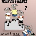 Karikatur zur Roten Laterne der Tour de France 2004