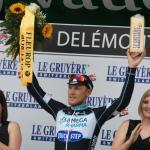 Matteo Trentin bei seinem Etappensieg bei der Tour de Suisse 2014 in Delemont