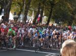 Das Feld geht auf die Zielrunde des 9. Sparkassen Münsterland Giro (Foto: Alexander Feldmann)