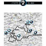 Karte 2. Etappe Bayern Rundfahrt 2015