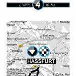 Karte 4. Etappe Bayern Rundfahrt 2015