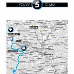 Karte 5. Etappe Bayern Rundfahrt 2015