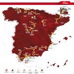 Die Streckenkarte der Vuelta a España 2015