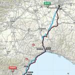 Streckenverlauf Milano - Sanremo 2015