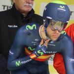 Jonathan Castroviejo im Trikot des spanischen Zeitfahrmeisters bei der Tour de Romandie 2014