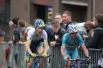 Vincenzo Nibali und Pieter Weening am Schlussanstieg in Ans