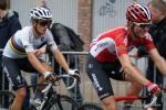 Tony Gallopin und Weltmeister Michal Kwiatkowski am Schlussanstieg in Ans