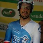 Steve Morabito kurz vor seinem Start zum Einzelzeitfahren in Lausanne