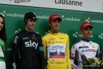 das Podium der Tour de Romandie - Chris Froome - Ilnur Zakarin - Simon Spilak