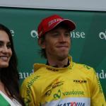 Inur Zakarin bei seinem Erfolg bei der Tour de Romandie 2015