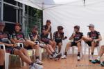 gute Stimmung beim Team Cult Energy vor der Fahrerpräsentation in Gippingen