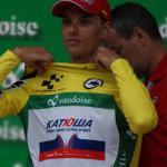 Simon Spilak erkämpfte sich am letzten Tag der 79. Tour de Suisse das Gelbe Trikot