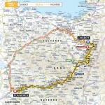 Streckenverlauf Tour de France 2015 - Etappe 7