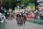 Sprint aus einer Gruppe um Peter Sagan die sich leicht vom Hauptfeld abgesetzt hat