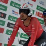 Lokalmatador Fabian Cancellara am Start zum Einzelzeitfahren in Bern