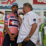 Stefan Denifl im Interview vor dem Start der 8. Etappe in Innsbruck