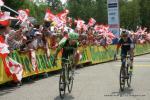 Moreno Moser gewinnt in Bregenz den Sprint vor David Tanner