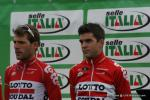 Maxime Monfort und Tony Gallopin bei der Teampräsentation in Bergamo