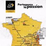 Pr�sentation Tour de France 2016: Streckenkarte