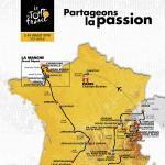 Streckenkarte der Tour de France 2016