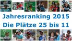 Das Jahresranking der besten Fahrer 2015, die Plätze 25 bis 11
