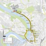 Grand Départ der Tour de France 2017 in Düsseldorf: Streckenverlauf des Einzelzeitfahrens auf der 1. Etappe