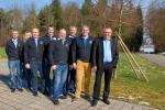 Von Gippingen nach Leuggern: Die Geschäftsleitung der Radsporttage Gippingen auf dem neuen Festgelände (Foto: Peter Jacobi, Döttingen)