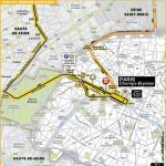 Streckenverlauf Tour de France 2016 - Etappe 21, letzte Kilometer