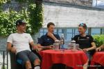 Matthias Brändle - Martin Elmiger und Dries Devenyns bei der Pressekonferenz vor dem Start der Tour de Suisse