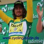 Zum Etappensieg gab es für Peter Sagn auch noch das Gelbe Trikot (Foto: cyclinginside)