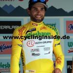 Der Etappenzweite Andrea Pasqualon ist der neue Träger des Gelben Trikots (Foto: cyclinginside)