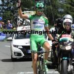 Ausreißer Simone Sterbini gewinnt mit 2 Minuten Vorsprung die Bergankunft auf dem Dobratsch (Foto: cyclinginside)