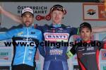 Die Top3 der 7. Etappe (v.l.n.r.): Markus Eibegger, Frederik Backaert, David Belda (Foto: cyclinginside)