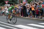 Peter Sagan ist der erste Fahrer der auf der 20. Etappe in der Abfahrt vom Col des Aravis