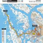 Strecken der Straßen-Weltmeisterschaft 2017 in Bergen: Straßenrennen, von Rong nach Bergen