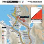 Strecken der Straßen-Weltmeisterschaft 2017 in Bergen: Einzelzeitfahren Männer Elite