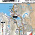 Strecken der Straßen-Weltmeisterschaft 2017 in Bergen: Einzelzeitfahren Frauen Elite und Nachwuchs