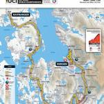 Strecken der Straßen-Weltmeisterschaft 2017 in Bergen: Mannschaftszeitfahren