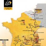 Präsentation Tour de France 2017: Streckenkarte