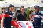 die Walliser im Team IAM bei der Tour de Suisse 2014