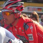 Fabian Cancellara im Trikot des Schweizer Meisters bei Paris-Roubaix 2010