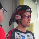 Konzentration auf das Zeitfahren der Tour de Suisse 2006 das in Fabian Cancellaras Heimatstadt Bern endet